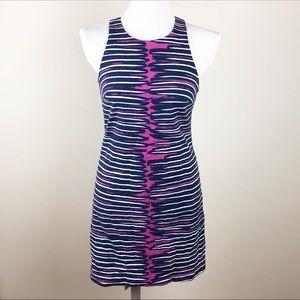 Trina Turk Striped Ikat Racerback Dress